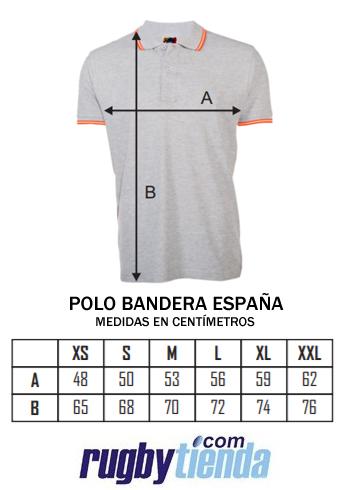 Guia de tallas Polo bandera España