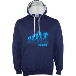 Suéter capuz Evolution Rugby