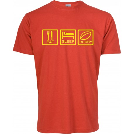 Camiseta Eat Sleep Rugby