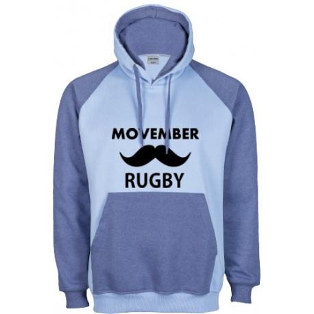 Dessuadora caputxa Movember Rugby