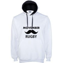 Suéter capuz Movember Rugby