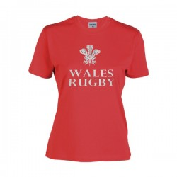 T-shirt Mulher Wales Rugby