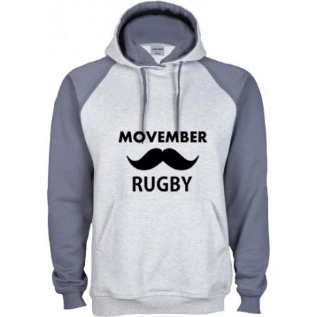 Sudadera Capucha Movember Rugby