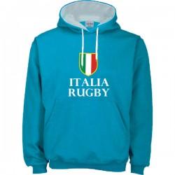 Suéter capuz Italia Rugby